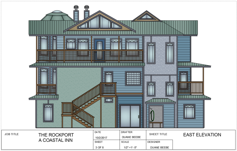 the rockport -east elevation