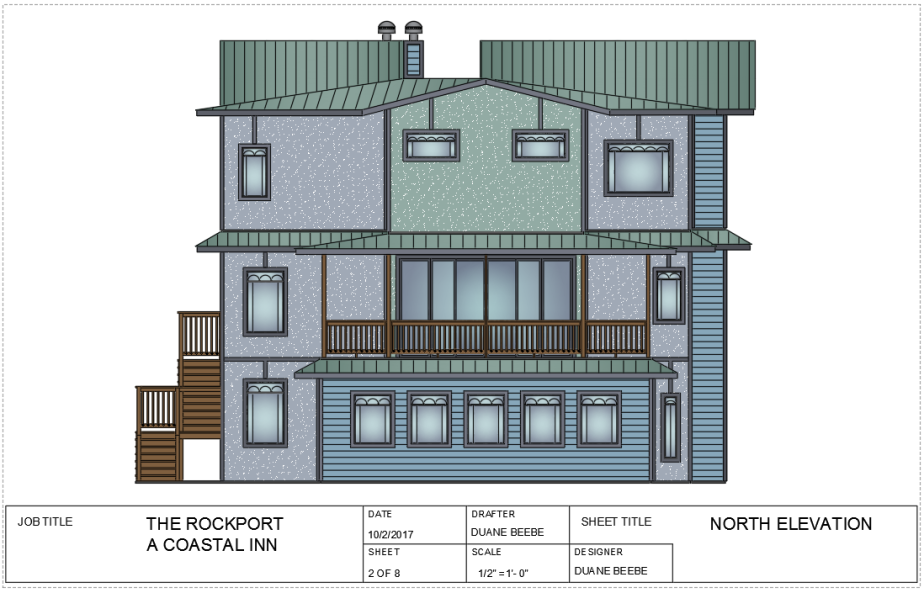 the rockport -north elevation