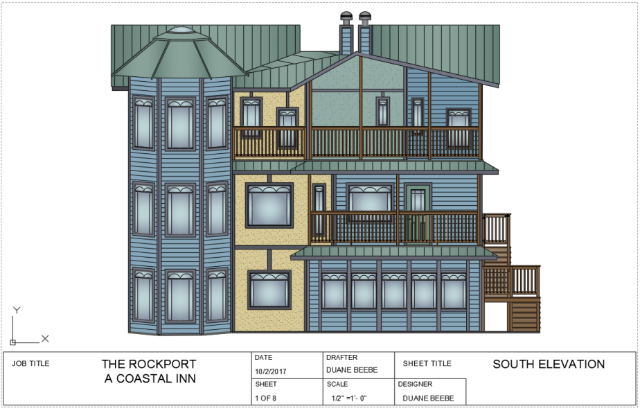 the rockport -south elevation