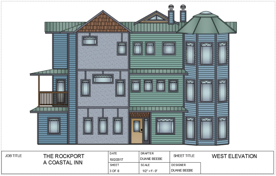 the rockport -west elevation