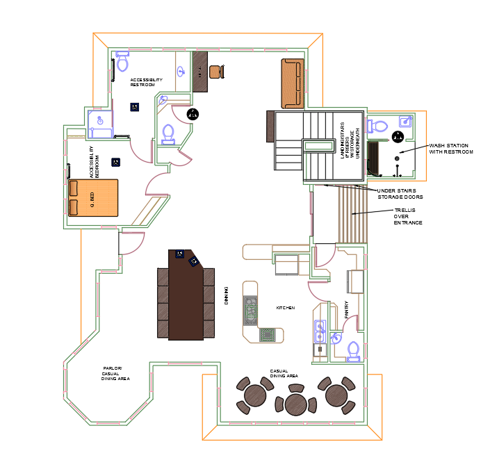 thr rockport floor plan level 1